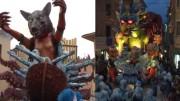 A Foiano della Chiana, la prima uscita del Carnevale con i quattro carri che si sono svelati per la prima volta