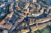 Carnevale di Foiano: la scoriandolata vista dall'alto