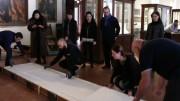 Etruschi maestri di scrittura: è arrivata a Cortona la Mummia di Zagabria